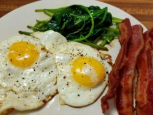 Bacon Eggs Spinach